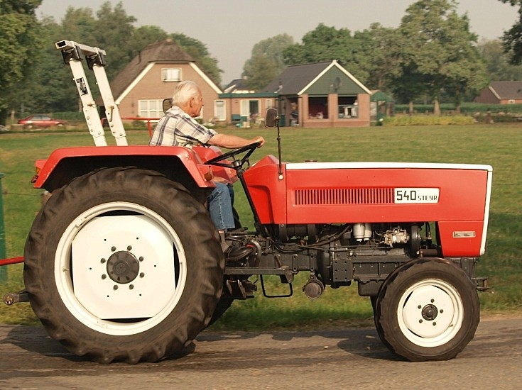 Steyr tractor on the road