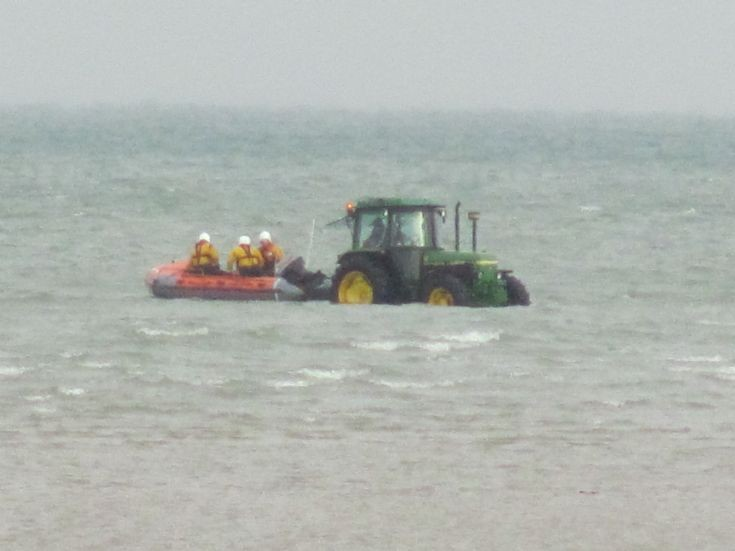 Seagoing tractor at Ryde Sands I.O.W.
