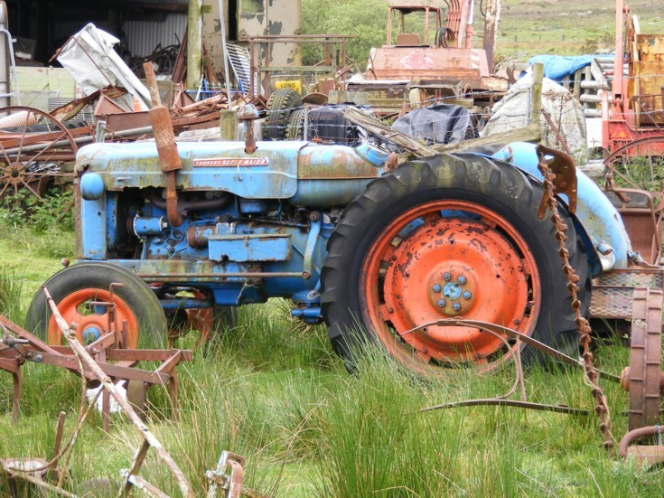 Old, abandoned tractor, Wales