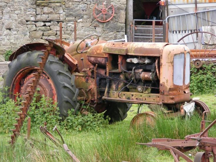 Unidentified derelict tractor, Wales