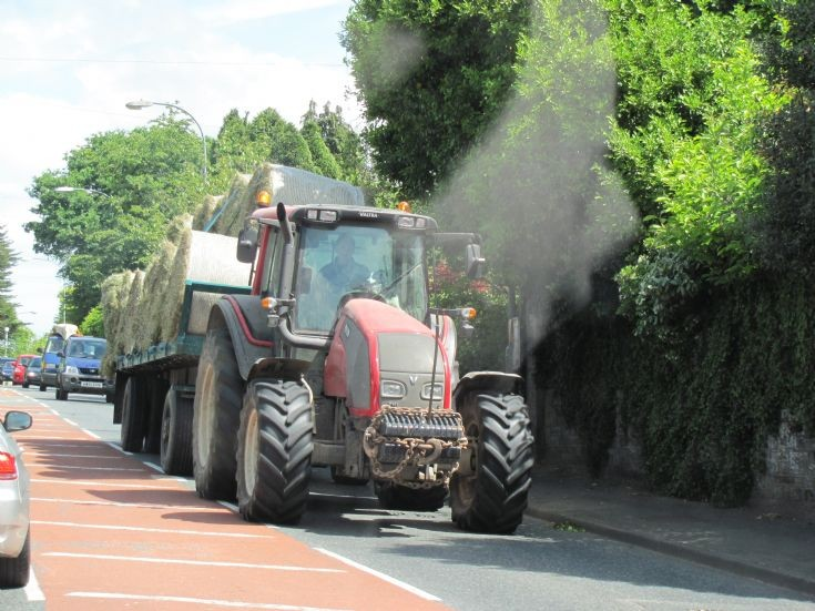 Valtra tractor on the road