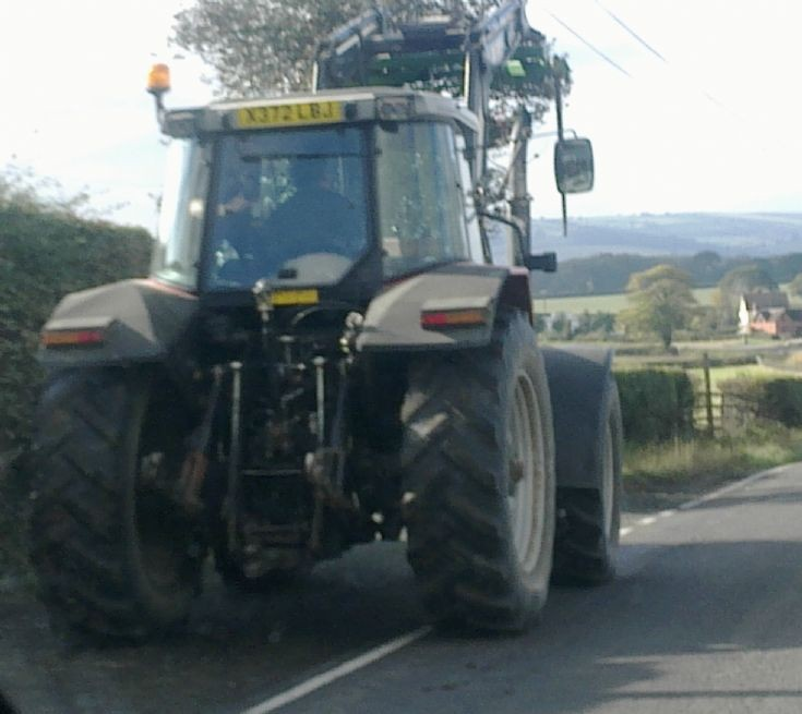 Tractor on A5