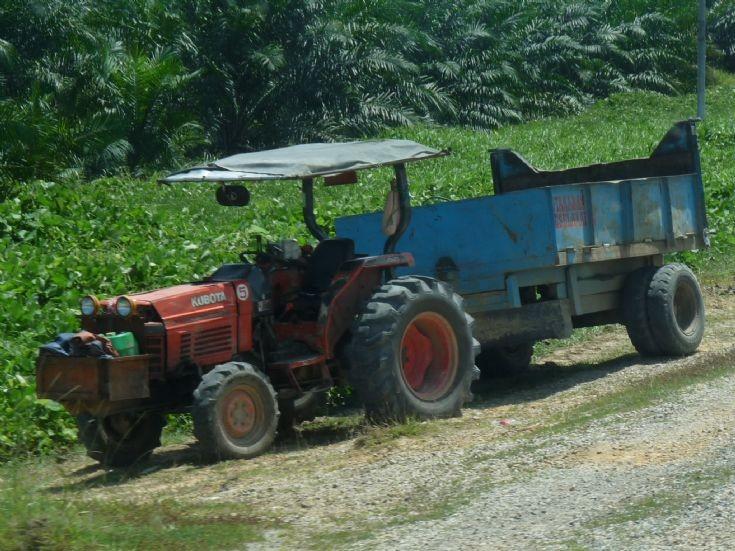 Kubota tractor and trailer