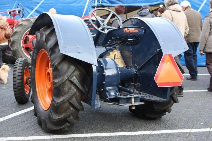 Rear view of preserved Fordson