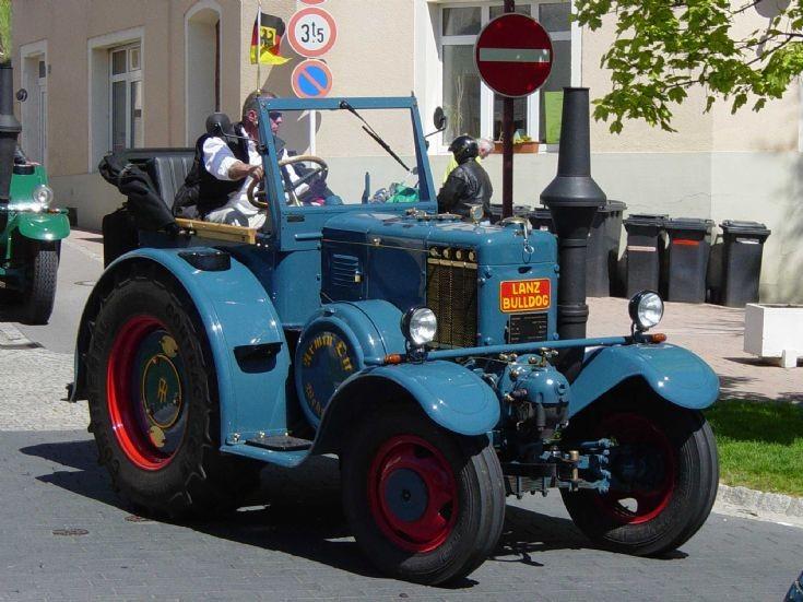 Lanz Bulldog on the road