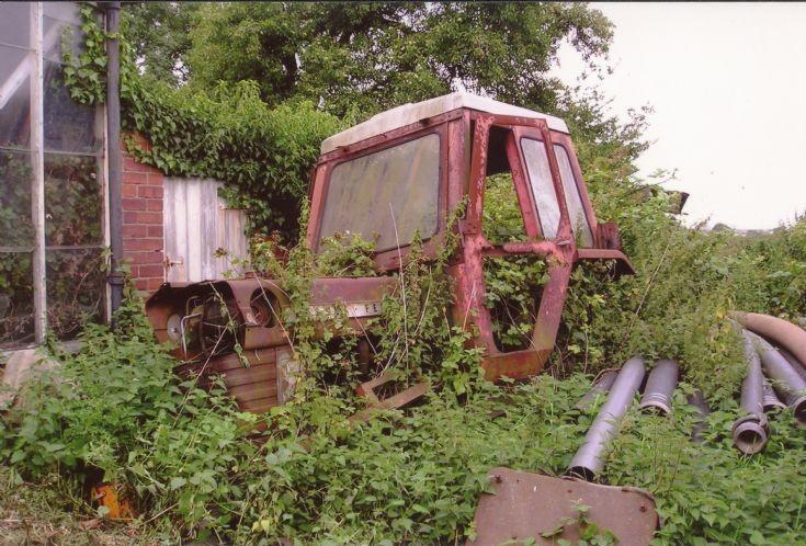 overgrown Massey-Ferguson 1080