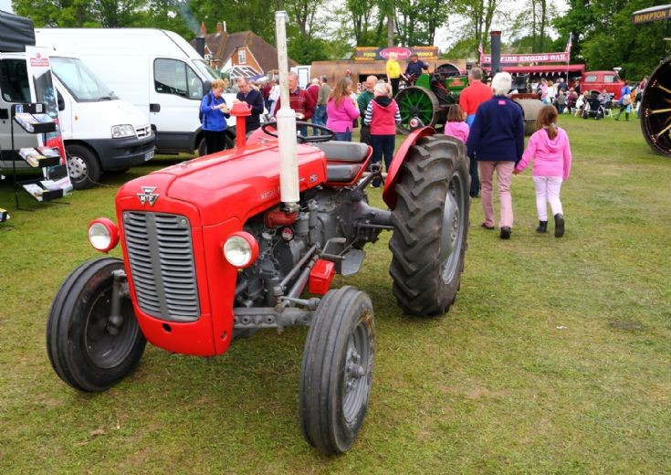 Massey-Ferguson MF35 at Fawley Hill Steam Fete 2013