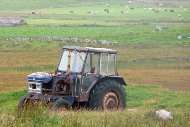 Leyland tractor, South Uist