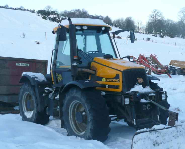 JCB Fastrac at Stables near Fortrose