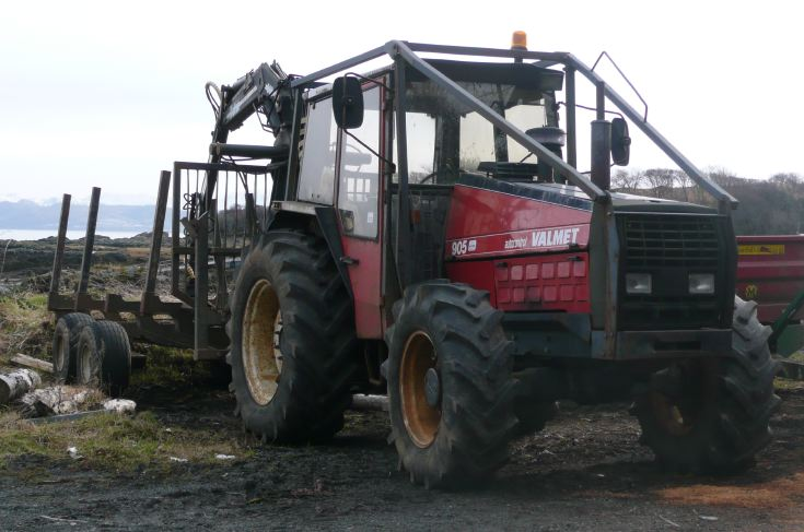 Valmet 905 being used for timber work, near Armadale. Isle of Skye