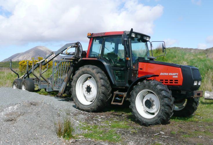 Valtra Valmet 6400 near Elgol, Isle of Skye