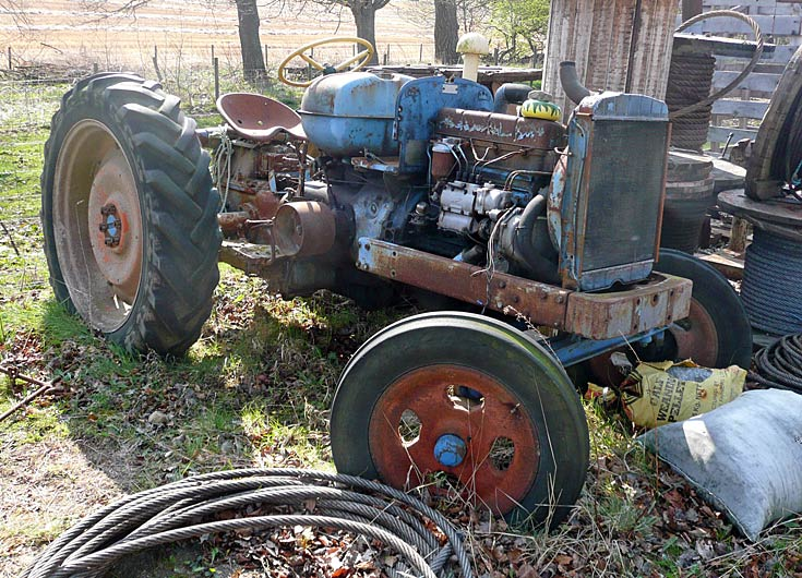 Unidentified tractor, Avoch, Black Isle