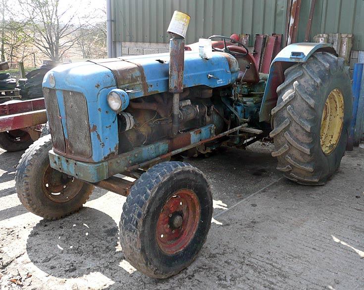 Unidentified tractor, Avoch, Black Isle