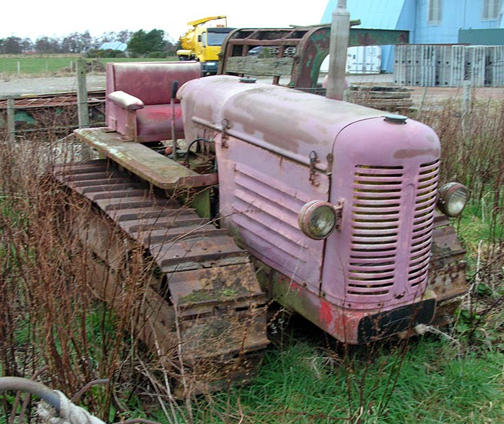 Unidentified tracked tractor