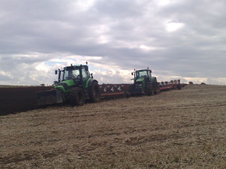 ploughing in Easter Ross