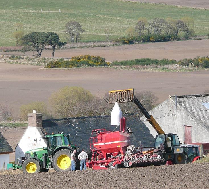 Preparing John Deere for sowing
