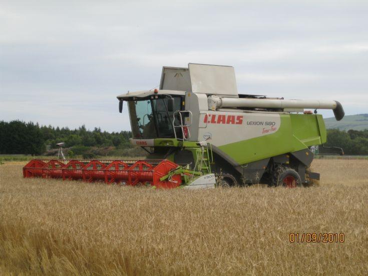 Lexion 580 tt cutting at Kildary