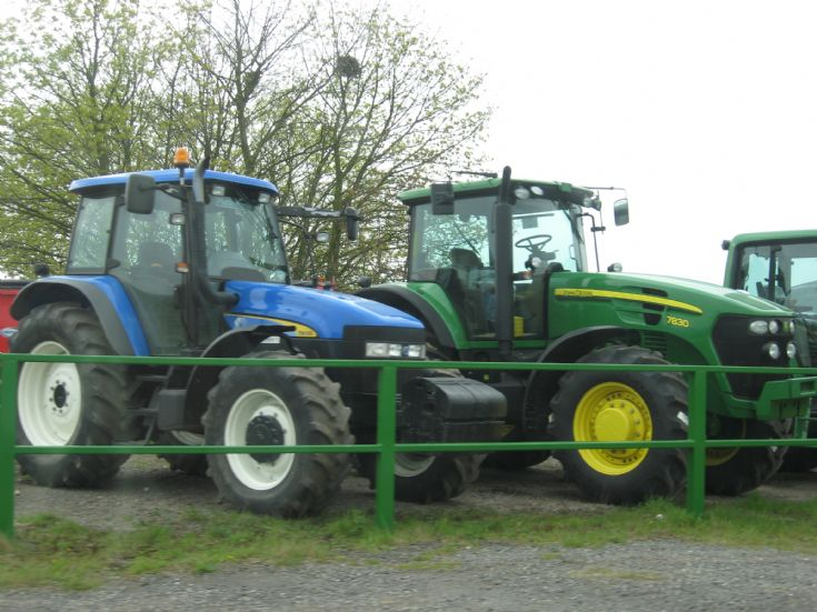 New Holland and John Deere 7830